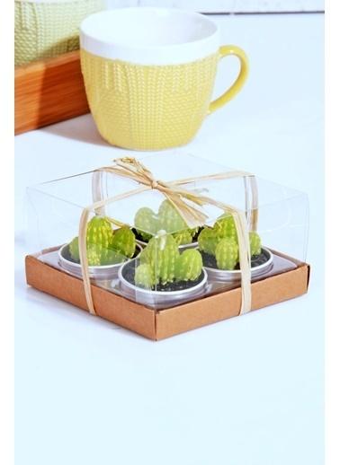 4'lü Kaktüs Şekilli Dekoratif Mum-Kitchen World